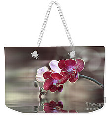 Orchid Reflection Weekender Tote Bag