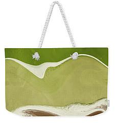 Weekender Tote Bag featuring the mixed media Organic Wave 1- Art By Linda Woods by Linda Woods