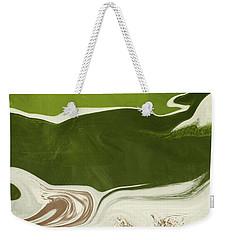 Weekender Tote Bag featuring the mixed media Organic Wave 2- Art By Linda Woods by Linda Woods
