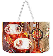 Weekender Tote Bag featuring the photograph Oriental Lamp by Dorothy Berry-Lound