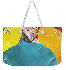 Weekender Tote Bag featuring the photograph Oriental Parasols Mixture by Dorothy Berry-Lound