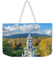 Weekender Tote Bag featuring the photograph Original Meeting House Jaffrey Nh by Michael Hughes