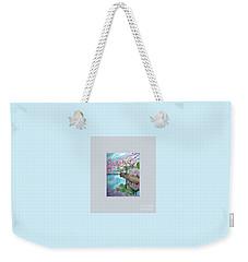 Original Painting. Joy Of Spring. Weekender Tote Bag