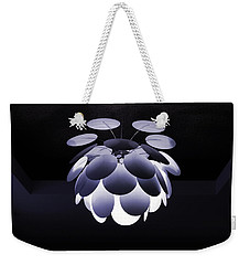 Weekender Tote Bag featuring the photograph Ornamental Ceiling Light Fixture - Blue by Debi Dalio
