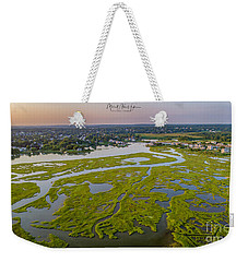 Weekender Tote Bag featuring the photograph Other Side Winnipaug  by Michael Hughes