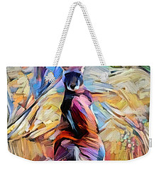 Weekender Tote Bag featuring the digital art Outback Roo by Chris Armytage