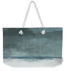 Weekender Tote Bag featuring the mixed media Overcast 2- Art By Linda Woods by Linda Woods