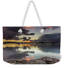 Overcast Waterscape With Hints Of Colour Weekender Tote Bag