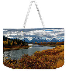 Weekender Tote Bag featuring the photograph Oxbow Bend by Scott Read