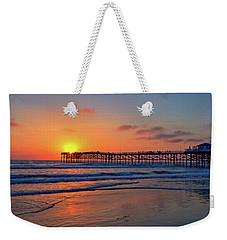 Pacific Beach Pier Sunset Weekender Tote Bag