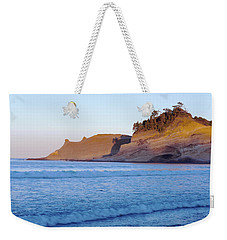 Weekender Tote Bag featuring the photograph Pacific City Cape Kiwanda Morning by Rospotte Photography