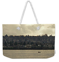 Paddling Under A Winter Sky  Weekender Tote Bag