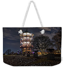 Weekender Tote Bag featuring the photograph Pagoda And The Canons by Mark Dodd