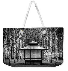Weekender Tote Bag featuring the photograph Pagoda by Steve Stanger