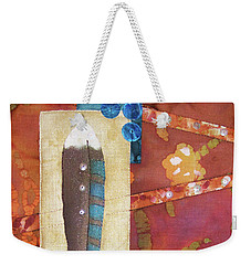 Painted Feather Weekender Tote Bag