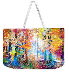 Weekender Tote Bag featuring the painting Painted Forest by Chris Armytage
