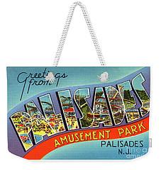 Palisades Amusement Park Greetings Weekender Tote Bag