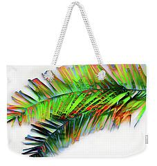 Weekender Tote Bag featuring the digital art Palm Leaf by Pennie McCracken
