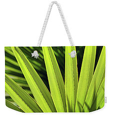 Weekender Tote Bag featuring the photograph Palm Portrait II by Leda Robertson