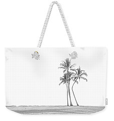 Palm Tree Cluster In Black And White Weekender Tote Bag