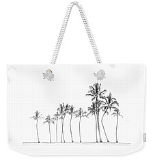 Palm Tree Horizon In Black And White Weekender Tote Bag