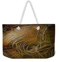Palm Tree Straw Weekender Tote Bag