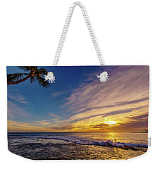 Palm Wave Sunset Weekender Tote Bag