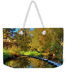Weekender Tote Bag featuring the photograph Palouse River Reflections by David Patterson
