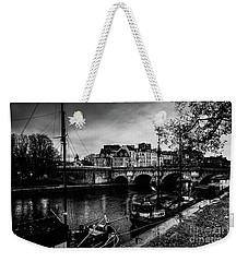 Paris At Night - Seine River Towards Pont Neuf Weekender Tote Bag