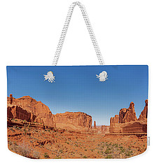 Weekender Tote Bag featuring the photograph Park Avenue Stroll by Andy Crawford