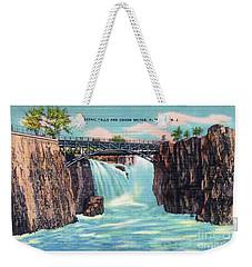 Passaic Falls And Chasm Bridge Paterson N J  Weekender Tote Bag