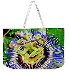 Passion Flower Bee Delight Weekender Tote Bag