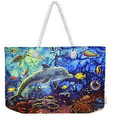 Past Memories New Beginnings Dolphin Reef Weekender Tote Bag