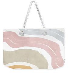 Weekender Tote Bag featuring the mixed media Pastel Waves 1- Art By Linda Woods by Linda Woods