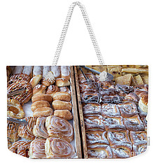 Weekender Tote Bag featuring the photograph Pastries by Tim Gainey