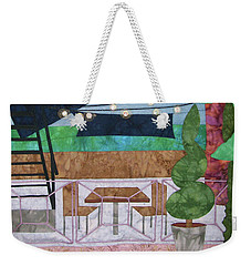 Patio At The Winds Weekender Tote Bag