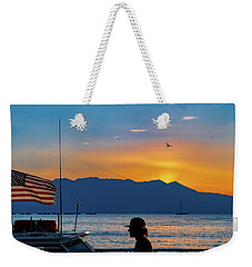 Patriot On The Lake Weekender Tote Bag
