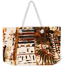 Weekender Tote Bag featuring the tapestry - textile Pattern From The Past by Sue Harper