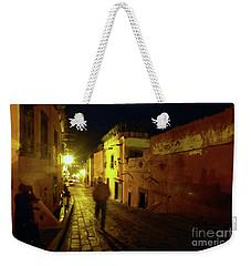 Weekender Tote Bag featuring the photograph Patzcuaro Street by Rosanne Licciardi