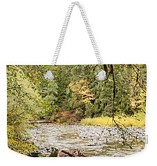 Peaceful Molalla River Weekender Tote Bag