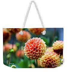 Peach Dahlias Weekender Tote Bag