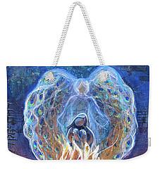 Peacock Angel Weekender Tote Bag