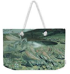 Weekender Tote Bag featuring the drawing Pegasus Vulgaris by Ivar Arosenius