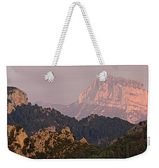 Weekender Tote Bag featuring the photograph Pena Montanesa Sunset Panorama by Stephen Taylor