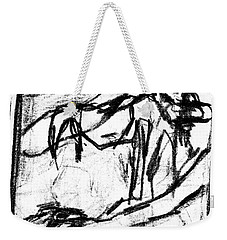 Pencil Squares Black Canine B Weekender Tote Bag