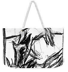 Pencil Squares Black Canine F Weekender Tote Bag