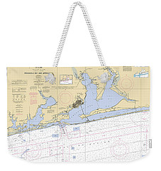 Pensacola Bay And Approaches Noaa Chart 11382 Weekender Tote Bag