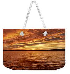 Percy Priest Lake Sunset Weekender Tote Bag