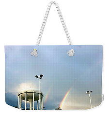 Perry Hall Double Rainbow Weekender Tote Bag