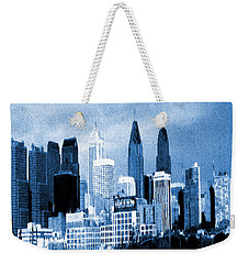 Philadelphia Blue - Watercolor Painting Weekender Tote Bag